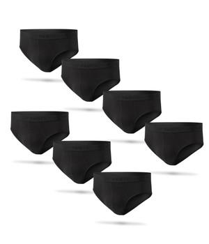 7 Pack Brief Black